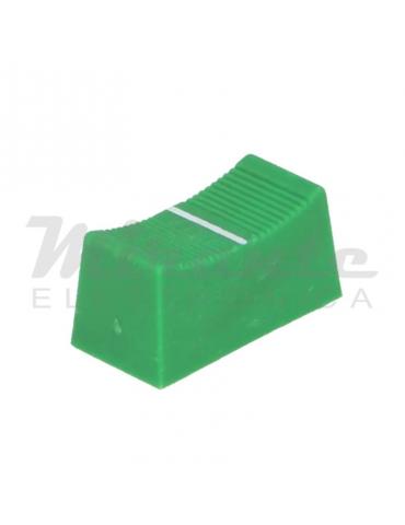 CLIFF Pomello potenziometro a slitta, 23x11mm, Verde