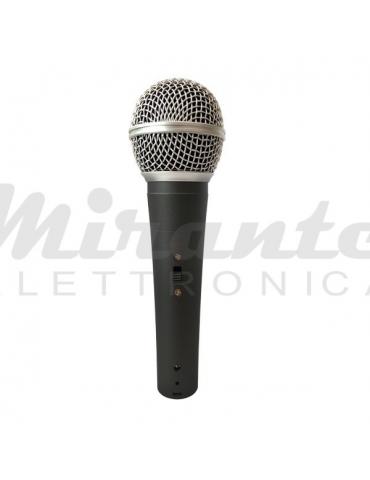 ZZIPP ZZDM3000 Microfono Dinamico a Filo per Voce Karaoke DJ con Cavo