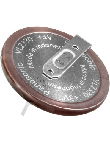 Panasonic VL 2330 Batteria 3v 50mAh, 2 pin a saldare verticale
