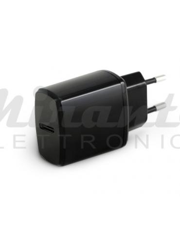 Caricatore USB 18W - 1 porta tipo C type, nero