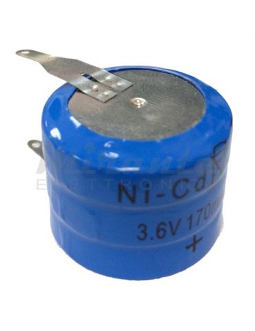 EXTRACELL Batteria Ni-CD 3.6V 170mAh a saldare, Ricaricabile