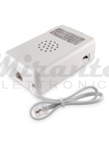Suoneria telefonica elettronica acustica e visiva