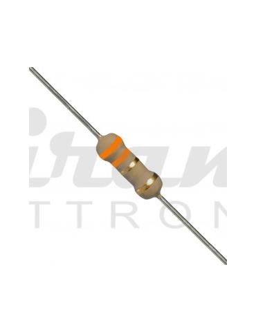 Resistore 1 K Ohm 0,25W 1/4 W - Marrone, Nero, Rosso, Oro, 5%