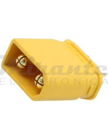 XT30U AMASS, Spina di alimentazione DC maschio 2 Pin, Giallo