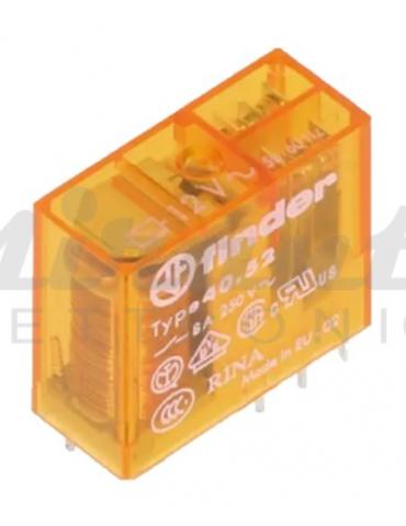 12Vac 8A, 40.52.8.012.000 Finder Relè DpDt