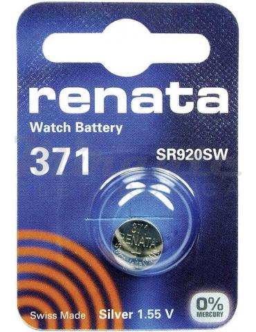 371 SR920SW, RENATA Pila Batteria Ossido d'argento 1,5V