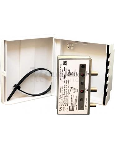 CPT25-3U(LTE) Reg - Amplificatore Antenna Tv da Palo 30dB, 2 Ingressi III + UHF