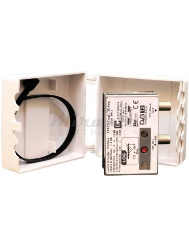 ATP10-Log(LTE) Reg - Amplificatore da palo 12dB con Filtro Lte per antenna Logaritmica