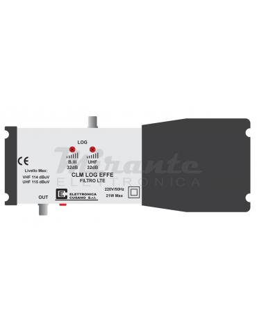 CLM-LOG-EFFE, Centralina Tv per antenna Logaritmica, 32dB per impianti centralizzati