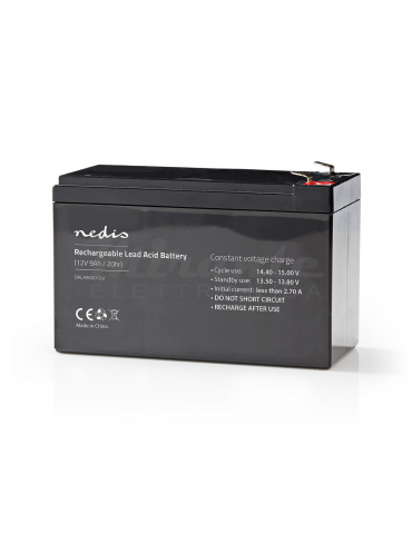 NEDIS - Batteria al piombo Ricaricabile 12V 9Ah