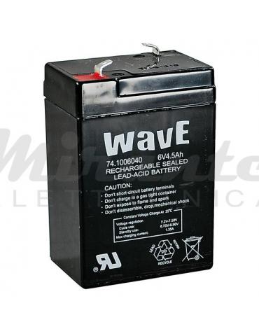Wave Batteria al Piombo Ricaricabile 6V 4.5Ah