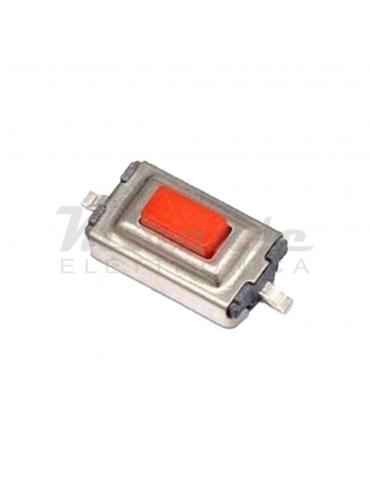 2 pin Pulsante rosso SMD PCB arduino micro mini switch button push cs
