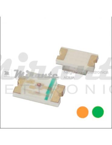 LED SMD 1206 | Arancione e Verde, confezione da 5 pezzi
