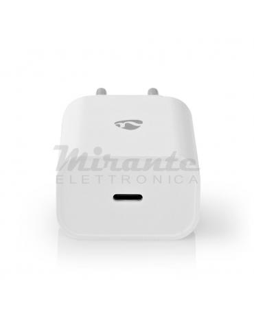 Nedis 18W Caricabatterie USB C, Bianco