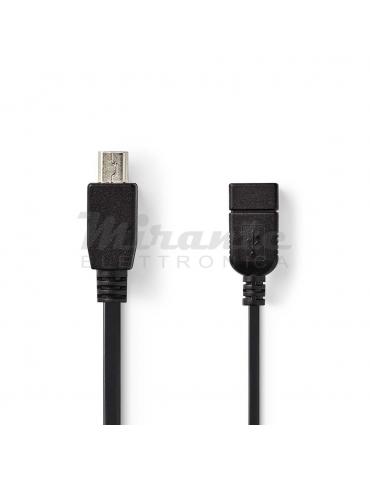 Nedis Cavo USB Mini USB OTG 0,2 cm, Nero