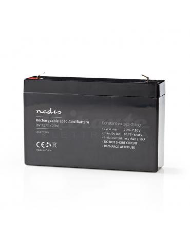 NEDIS - Batteria al piombo Ricaricabile 6V 7,2Ah