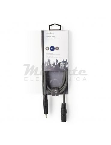 Nedis - Cavo Audio XLR Bilanciato da Maschio 3 Pin XLR a Jack 3,5 mm Maschio, da 1.5 metri