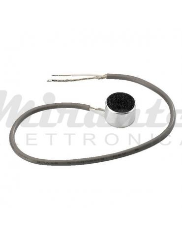 Monacor MCE-401 Capsula Microfonica a Elettrete, con filo cavo