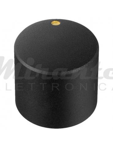 Monacor KN-10 Manopola per potenziometri, 20 mm, nero