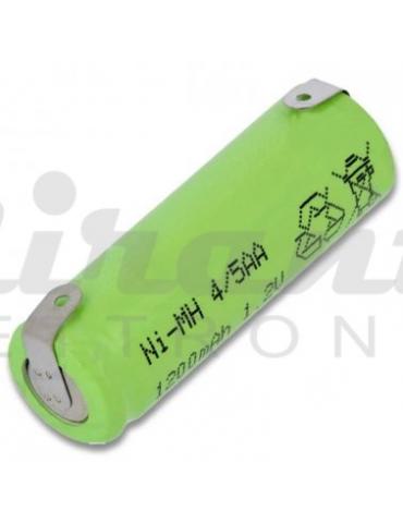4/5AA Pila Batteria Ricaricabile 1,2v 1200mAh, a saldare