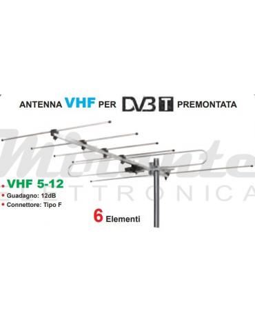Life Antenna VHF 3 III Banda, 6 Elementi, 12dB