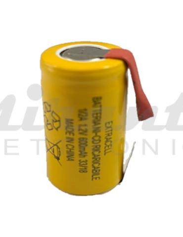 Extracell Batteria Ni-cd 2/3A, 1/2A, con terminali a Saldare