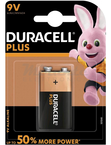 Duracell - Plus Power 9V B1Batteria MN1604 6Lr61 6F22
