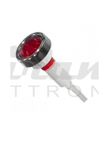Spia segnalatore Neon 24V IP65 da esterno waterproof, Rosso