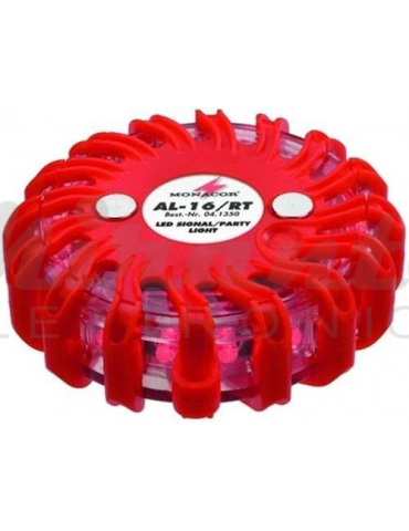 Monacor AL-16/RT Led Signal Party Light Rosso Red