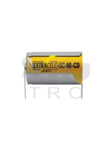 EXTRACELL Batteria Pila SC NI-CD 1,2V 2000mAh con Lamelle