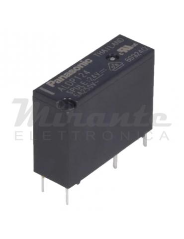 Panasonic ALDP124 Relè 24V 5A, SPST-NO, 4 contatti
