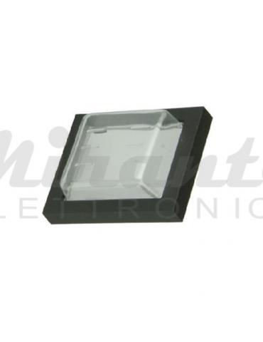 Protezione in gomma per interruttore 31x20, trasparente