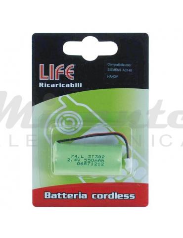 Batteria per Telefono Cordless 2,4v 550mah, verde