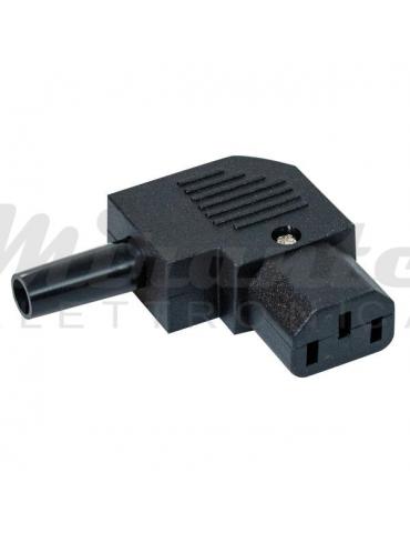 Connettore VDE presa femmina IEC C13, ad angolo 90 gradi
