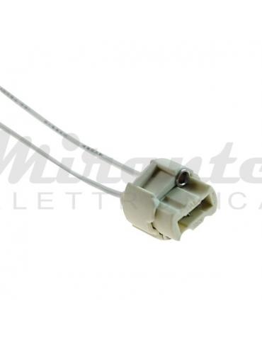 Porta Lampade 230V per G9, in ceramica con cavi