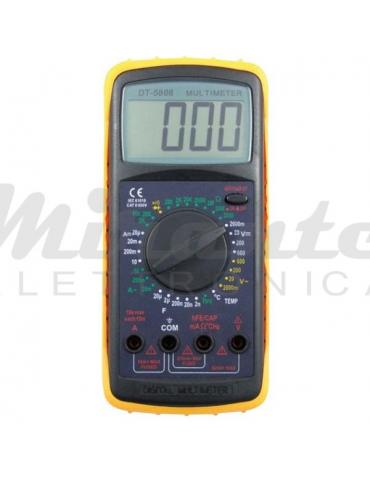 Multimetro Capacimetro Tester Digitale 10A con Buzzer