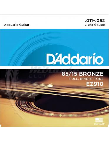 d'Addario EZ910 Set Corde Acustica 011-052 Ez Great American, Bronzo