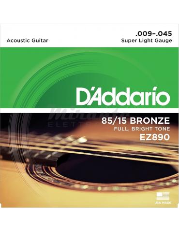d'Addario EZ890 Set Corde Acustica 9 45 Ez Great American, Bronzo