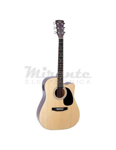Soundsation Yosemite, Chitarra acustica Dreadnought cutaway elettrificata, natural