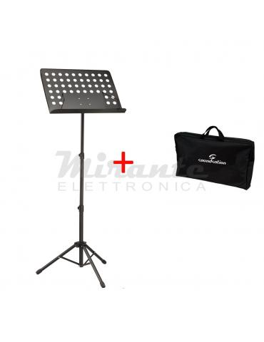 Soundsation Leggio da orchestra tavola forata removibile + borsa