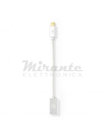 Adattatore USB 3.2 Gen 1 Femmina a USB Type Tipo C, lunghezza 0,20cm