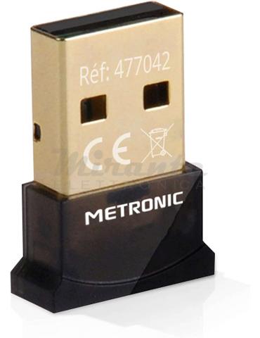 Metronic 477042 Bluetooth 4.0 Adattatore, PC, Plug e Play Nero