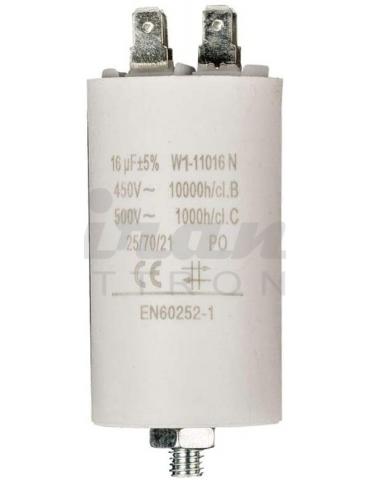 in.co condensatore di avviamento per motore bifase, 16uF 450V