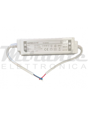 Superlight 24V 60W Alimentatore Led Driver tensione Costante, IP67