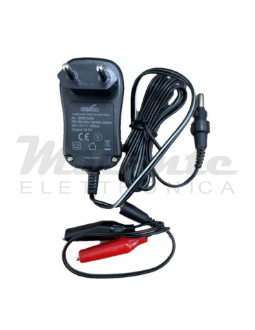 Extracell Caricabatterie per batterie al Piombo 12V, 1A