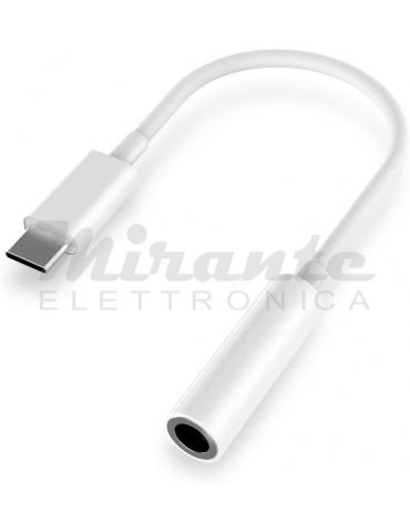 Adattatore da USB C a 3,5 mm, Cavo Jack per Cuffie Audio da USB C Type C a 3,5 mm