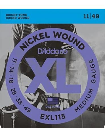 D'Addario EXL115 Nickel Wound Electric Guitar String 11-49