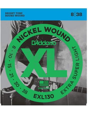 D'Addario EXL130 Set Corde Elettrica EXL Morbide Principianti 08 38