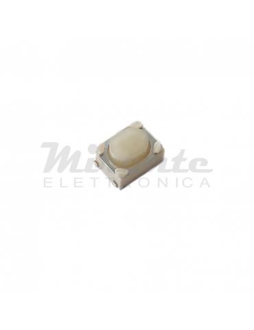 Tasto Pulsante Micro Interruttore SMD 4 Contatti, Bianco