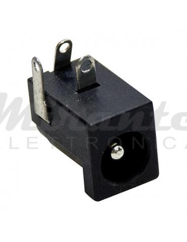 Spina DC 5,5x2,1, da circuito stampato 3 pin